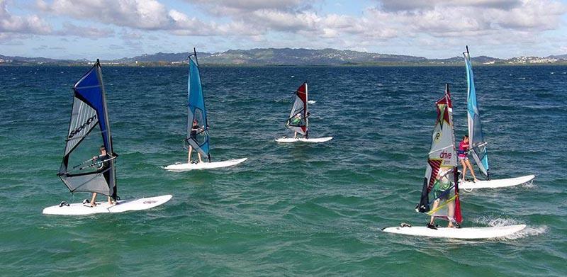 Le spot de windsurf